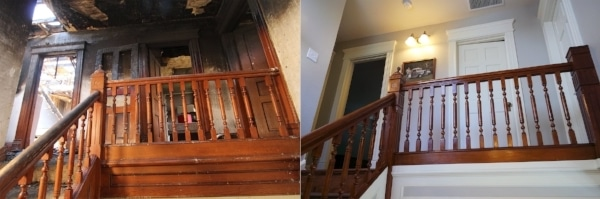before and after fire flipped